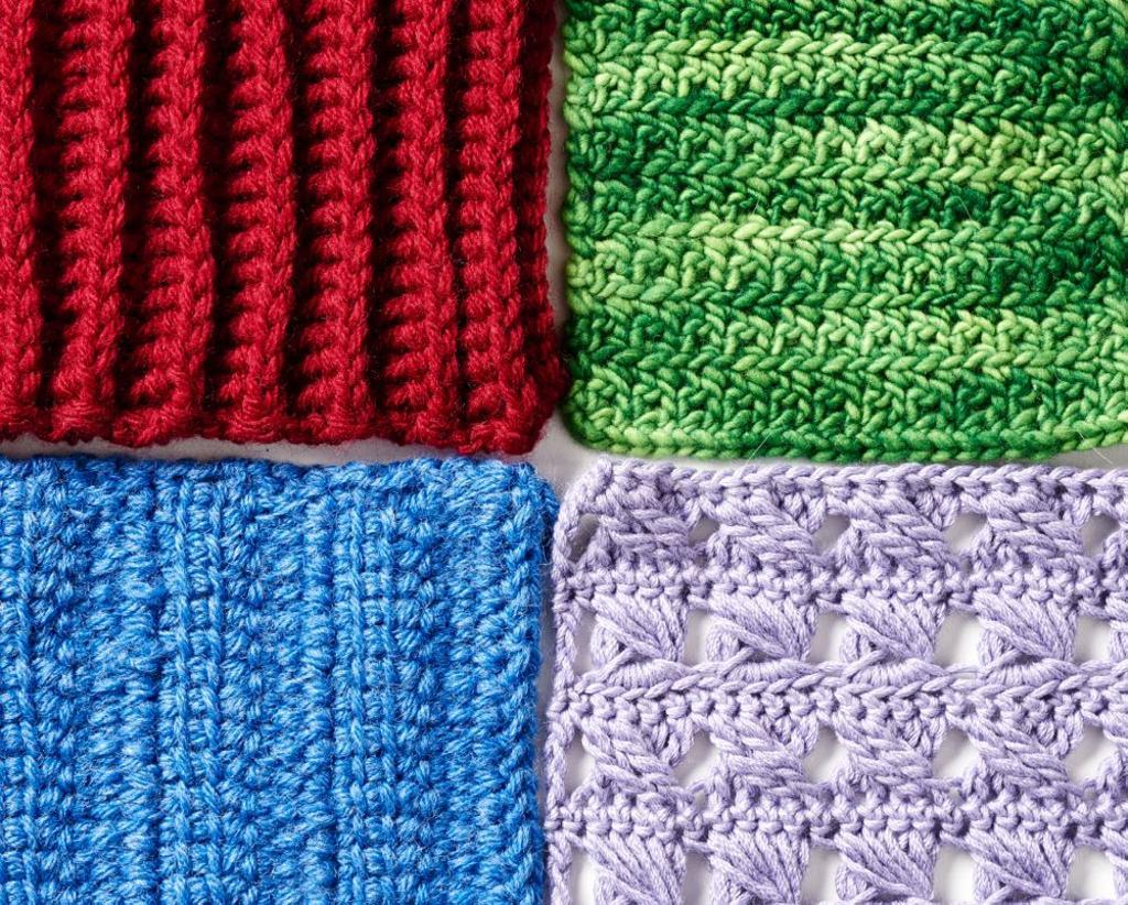 Simple Crochet Swatches