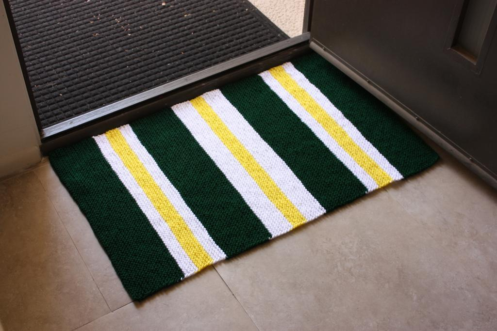 Very Simple Striped Rug FREE Knitting Pattern