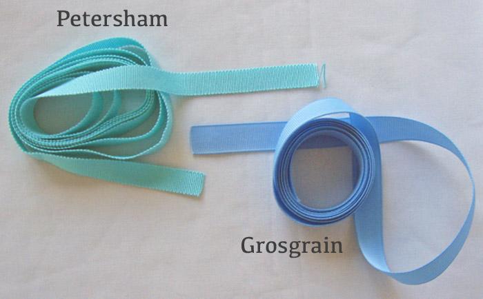 grosgrain and petersham ribbon