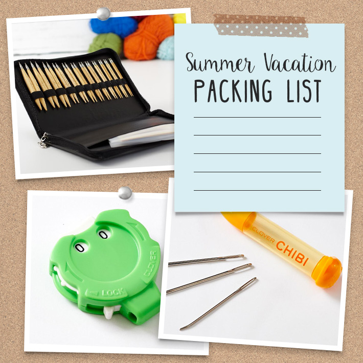 Knitting Vacation Packing List