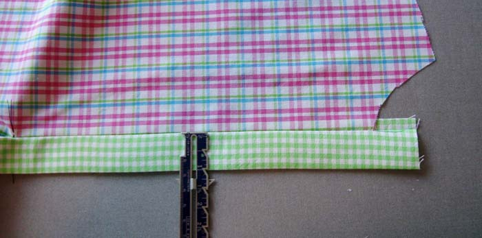press fold to create placket