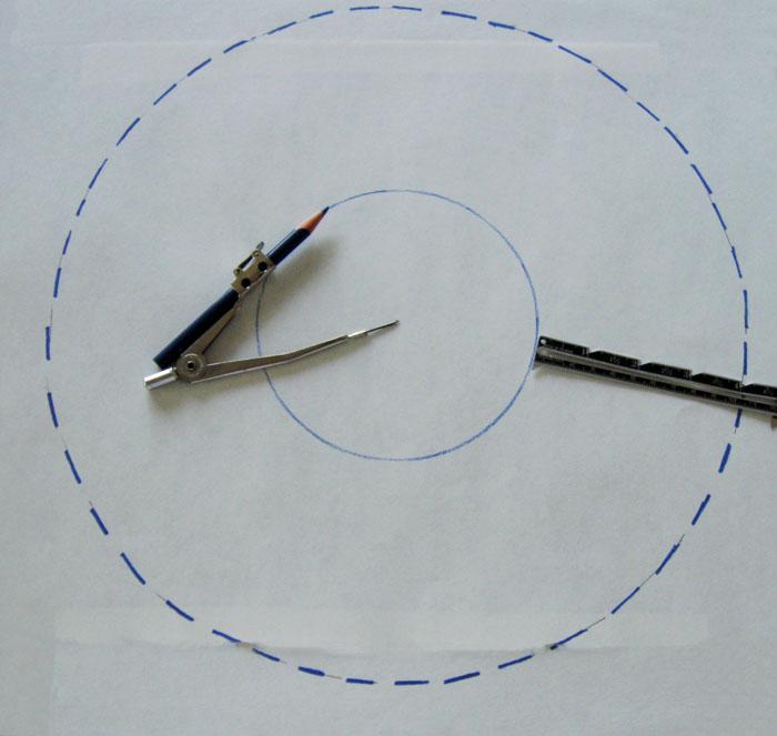 make circle pattern on paper