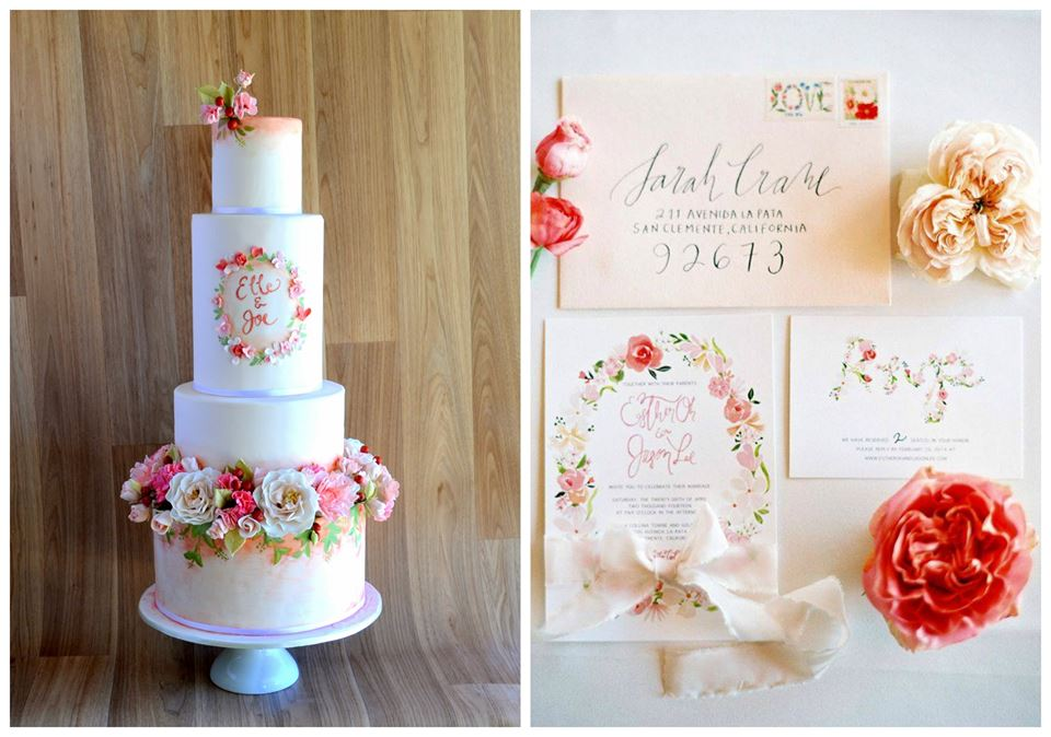 Wedding Cake That Matches Invitations