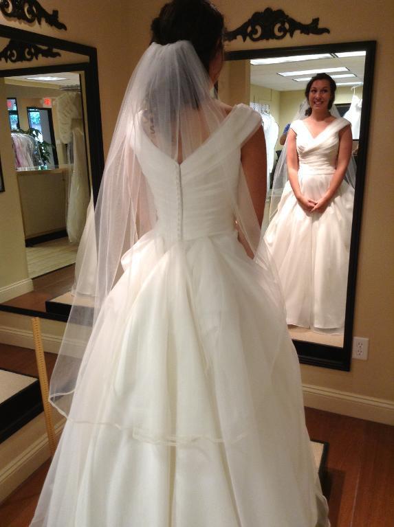 bridal veil with ribbon edge