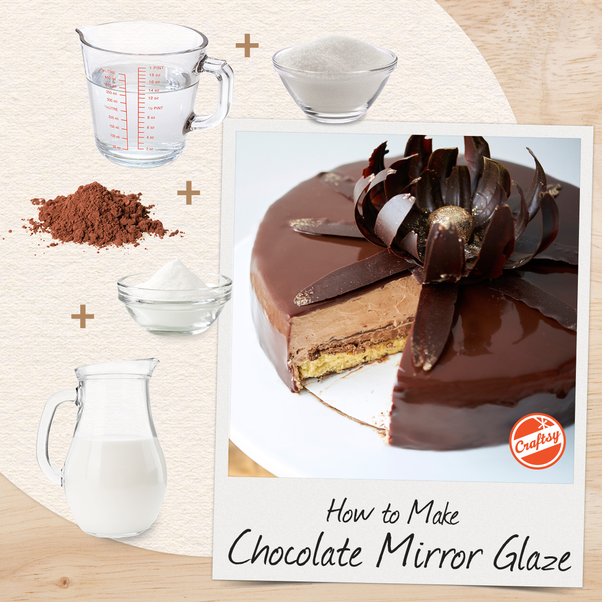 Mirror Chocolate Glaze Recipe