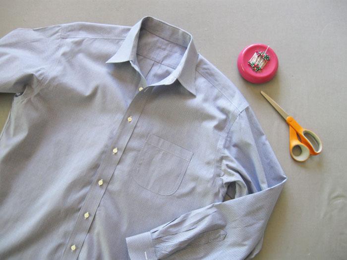 shirt plus sewing tools