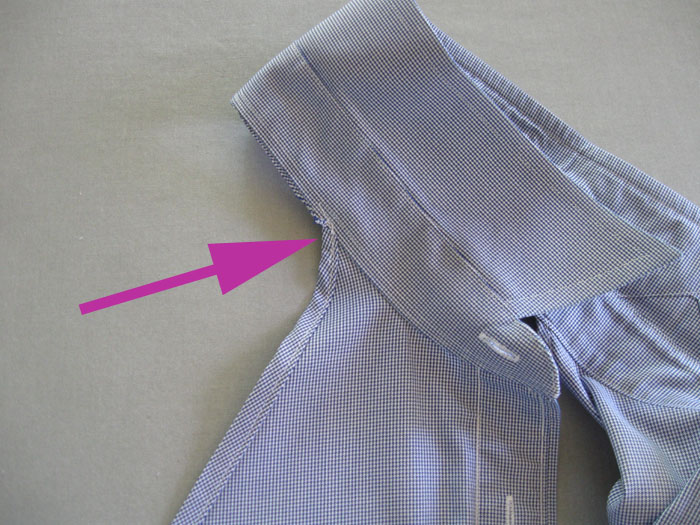 reinforce neck edge with stitching
