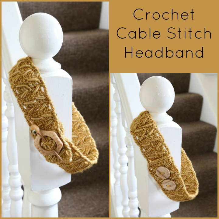 Crochet Cable Stitch Headband Pattern