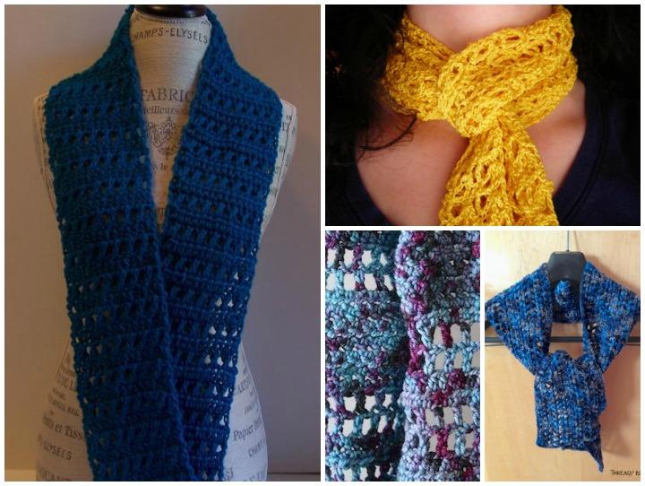 Free One-Skein Crochet Scarf patterns