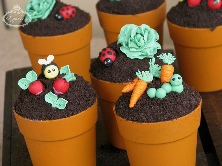 Garden Party Cupcake Toppers