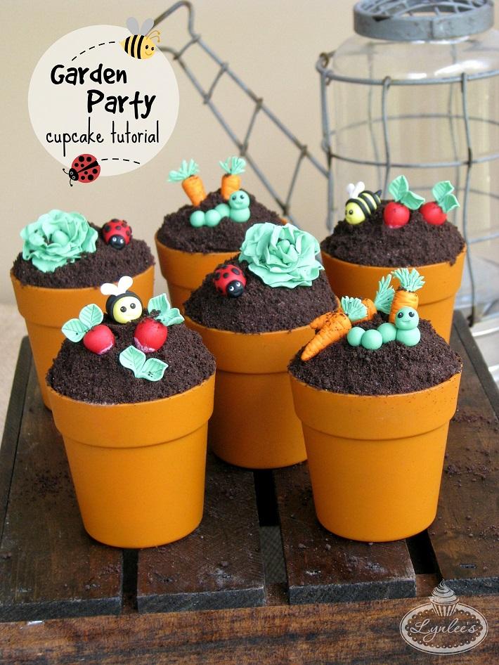 Garden Cupcakes Tutorial On Bluprint