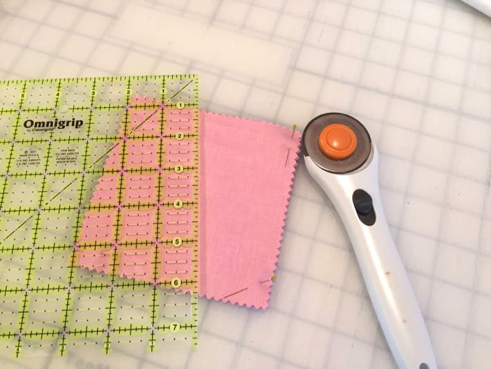Stack and whack quilt block