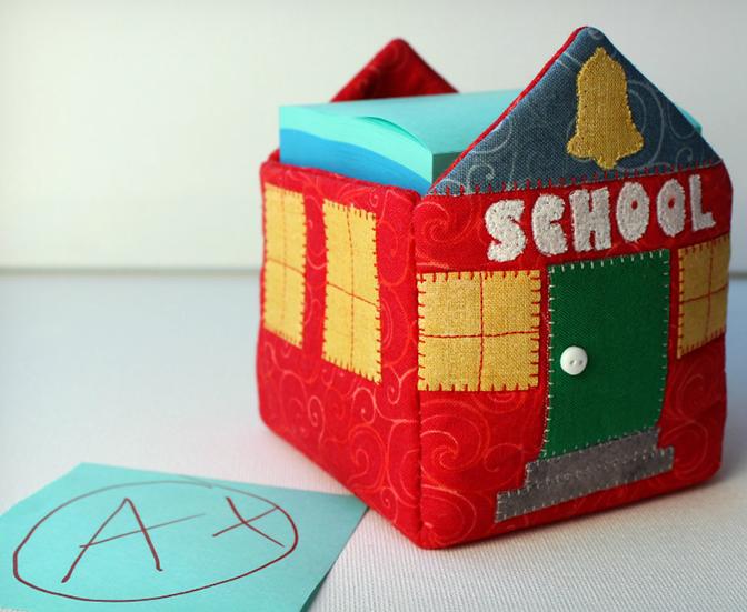 Schoolhouse Sticky Note Holder