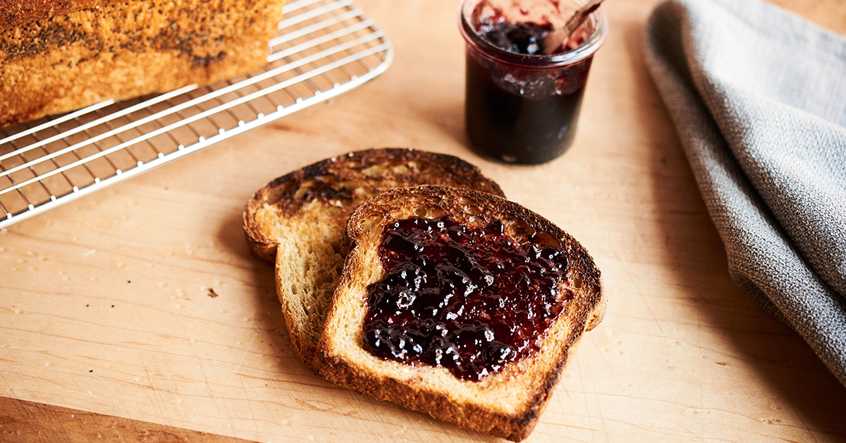 Toasted Bread with Homemade Jam