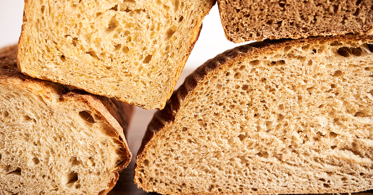 Close UP of  Different Types of Bread