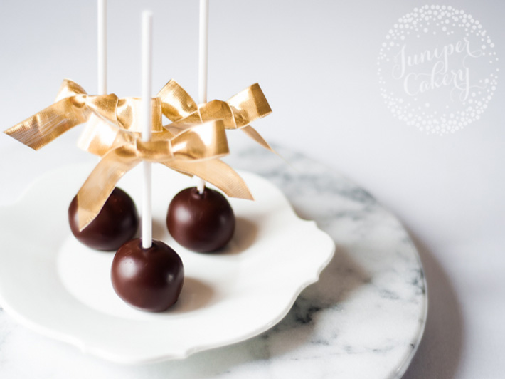Chocolate Covered Peanut Butter Balls on a Stick