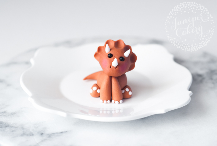 Learn how to create a cute little dinosaur cupcake or cake topper