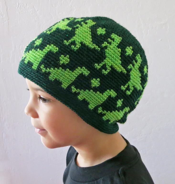 All Ages Dino Beanie Crochet Pattern