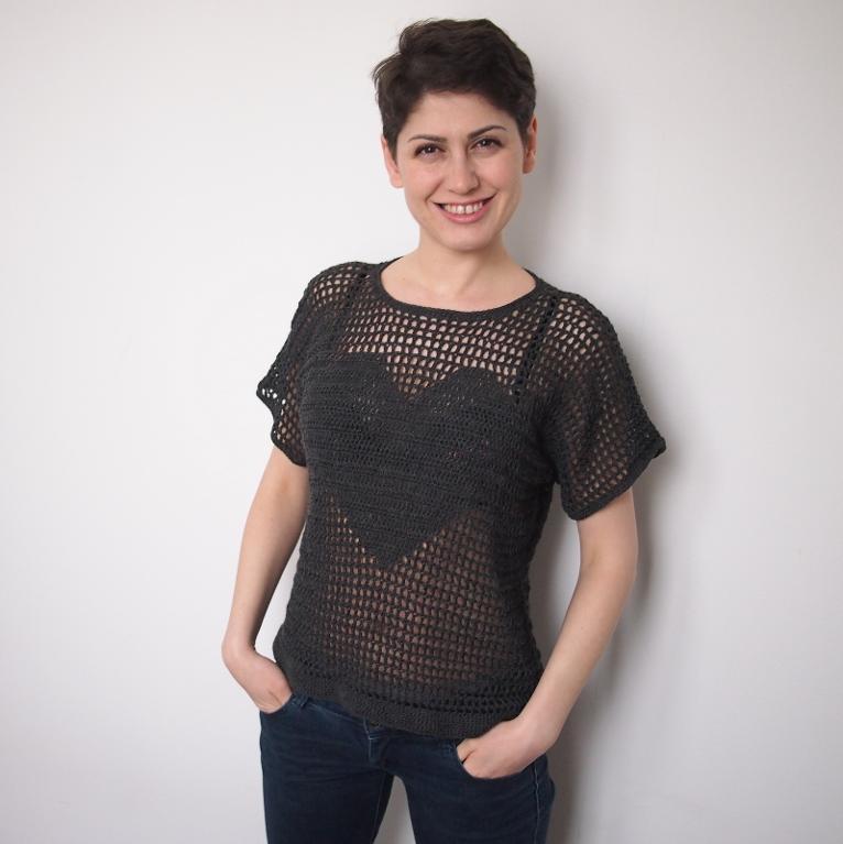 Heart Sweater Crochet Pattern