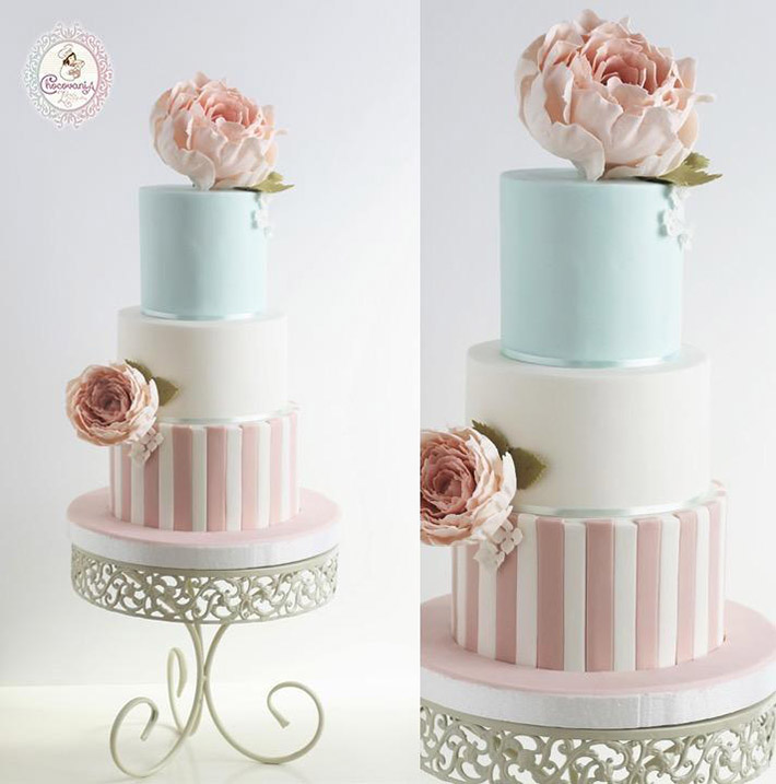 Pretty in pastel cake by Bluprint member Zahra Ali