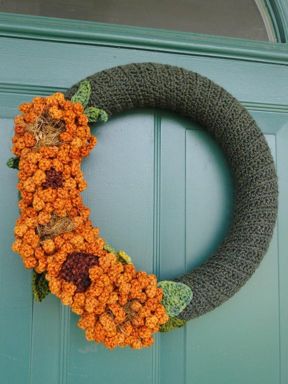 Sunflower Wreath Crochet Pattern