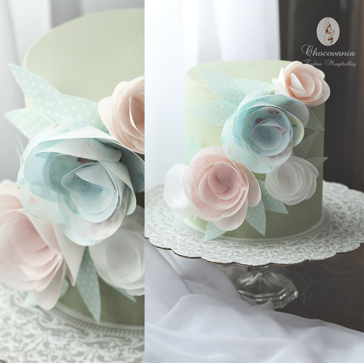 Wafer paper cake by Bluprint member Zahra Ali