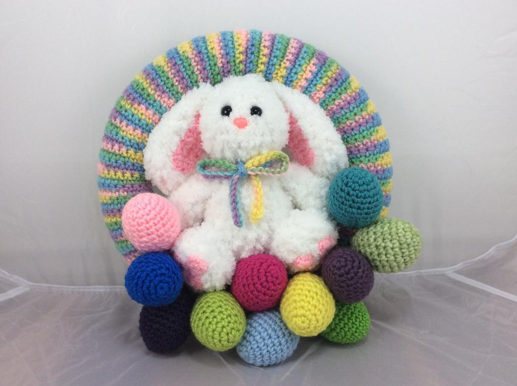 Easter Bunny Wreath Crochet Pattern