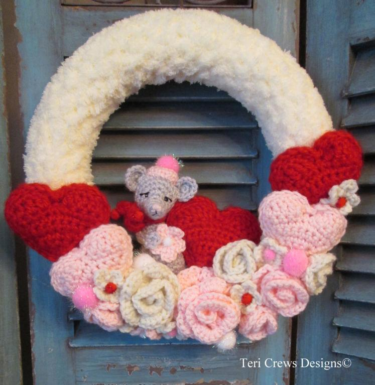 Valentine Wreath Crochet Pattern