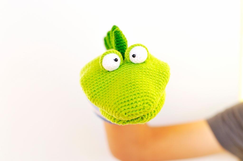 Dino the Hand Puppet Crochet Pattern