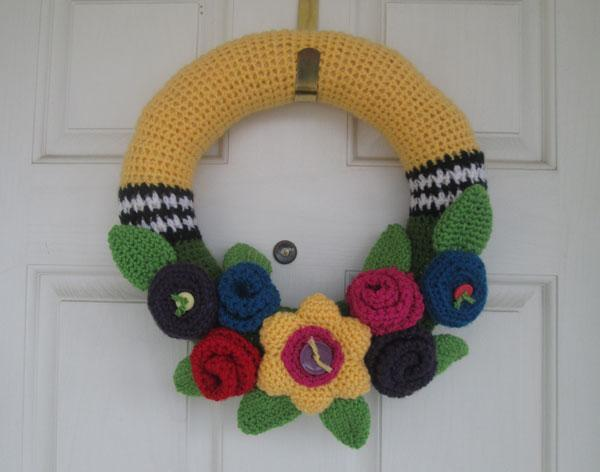 Summer Floral Wreath Crochet Pattern