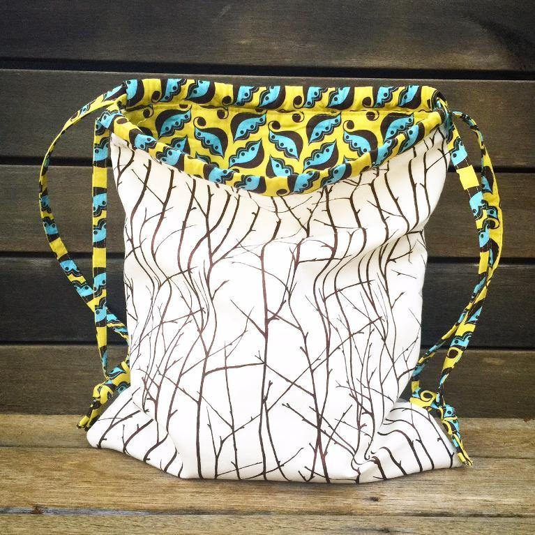 Nature-Inspired Drawstring Backpack