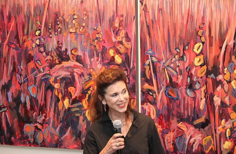 Nina Weiss at a Gallery