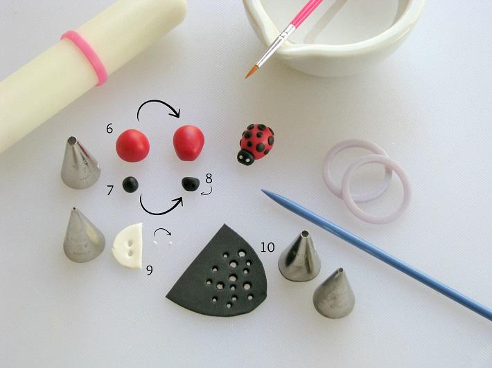 How to Make a Fondant Ladybug