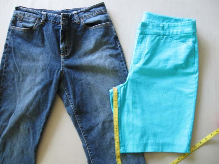 measure inseam of shorts