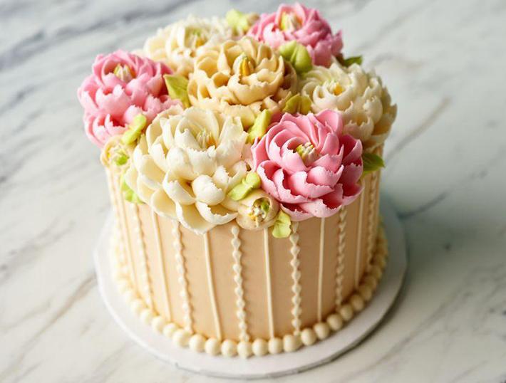 One-Tier Wedding Cake