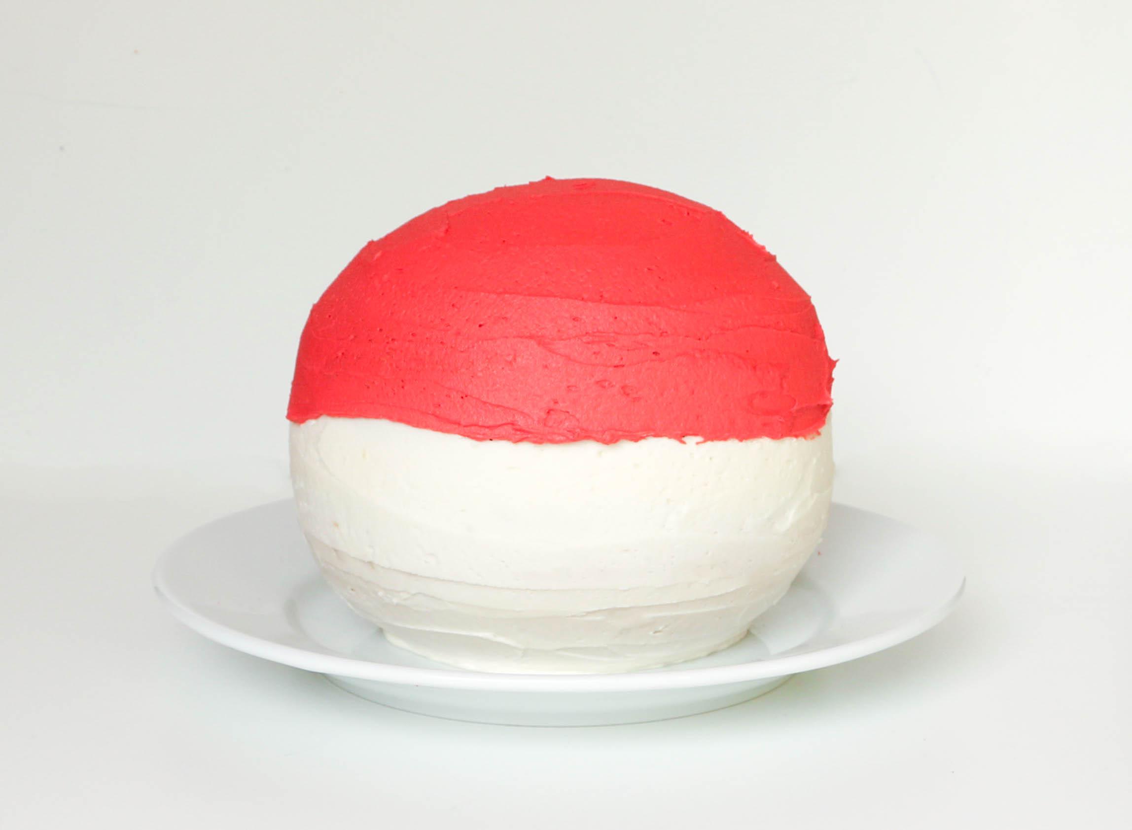 Iced Pokeball Cake | Erin Gardner | Bluprint