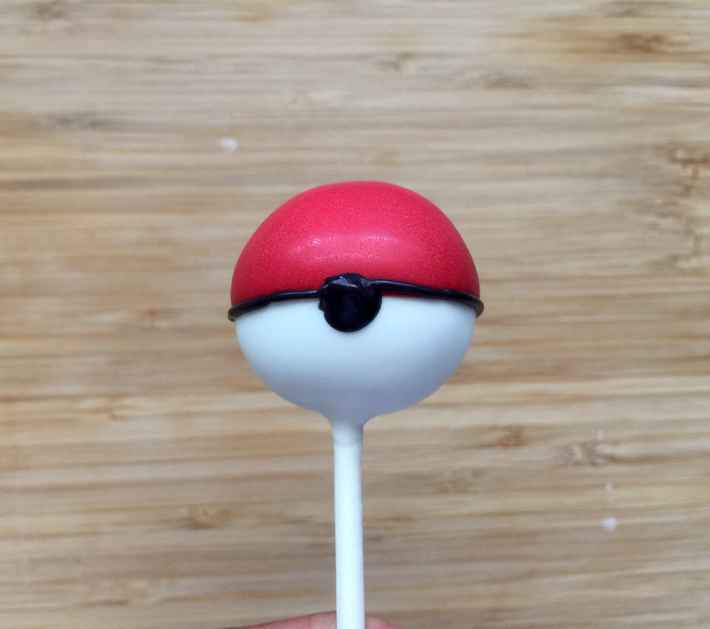 Pipe a Black Spot on Pokemon Cake Pops