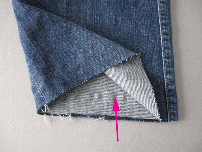 running stitch on edge