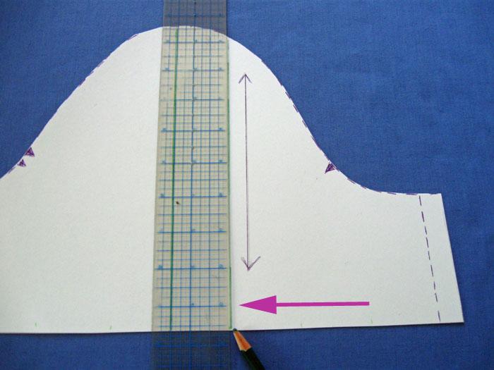 mark line for splitting pattern