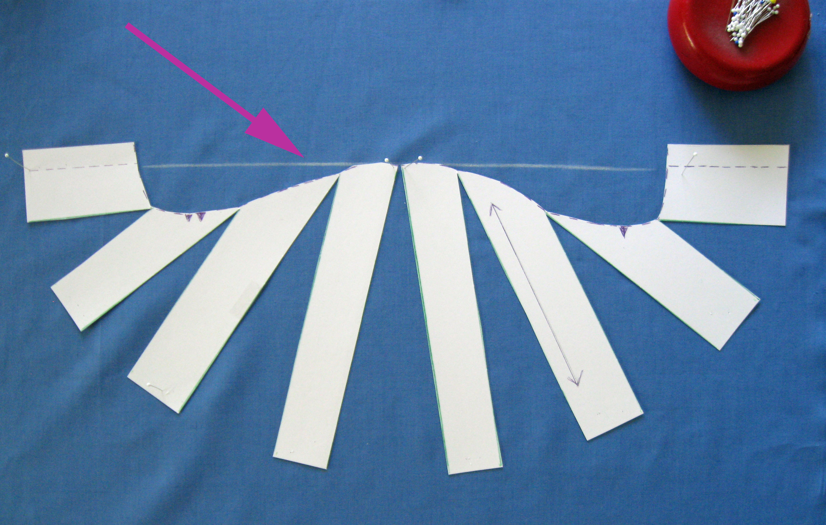 arrange pattern piece