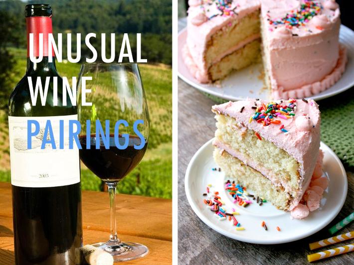 Unusual wine pairings