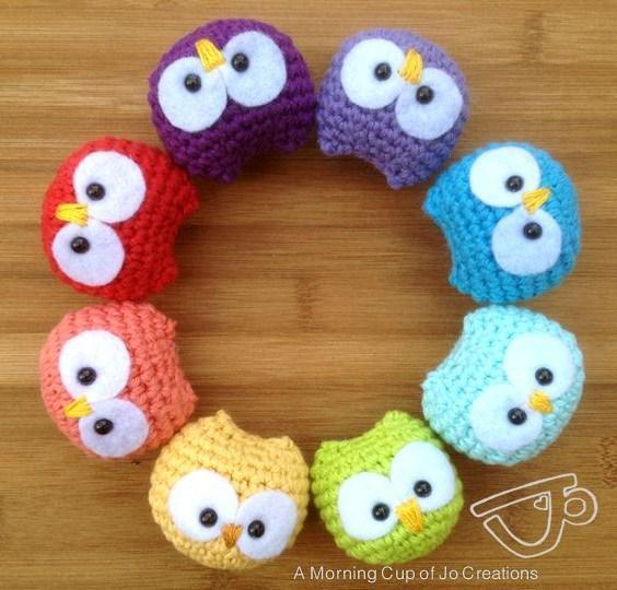 baby owl crochet ornaments
