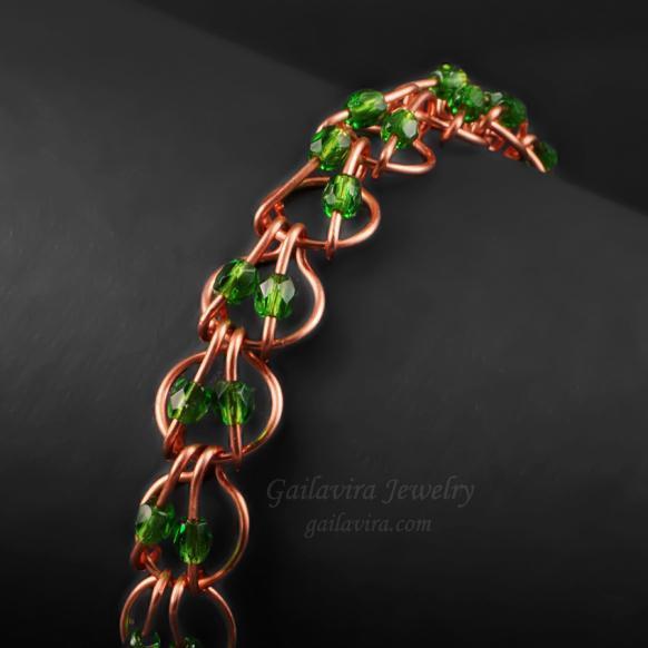 beaded hoop link bracelet tutorial