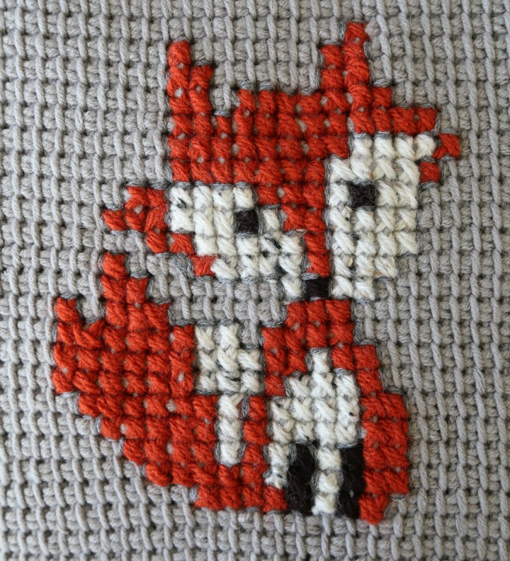 Cross Stitch on Crochet Fabric