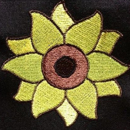 free sunflower embroidery design