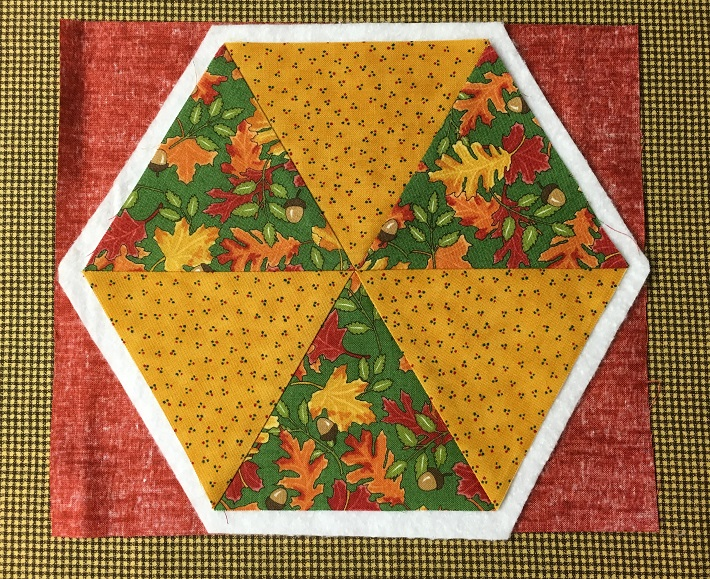 Quilt Sandwich for a Hexagon Quilt Top