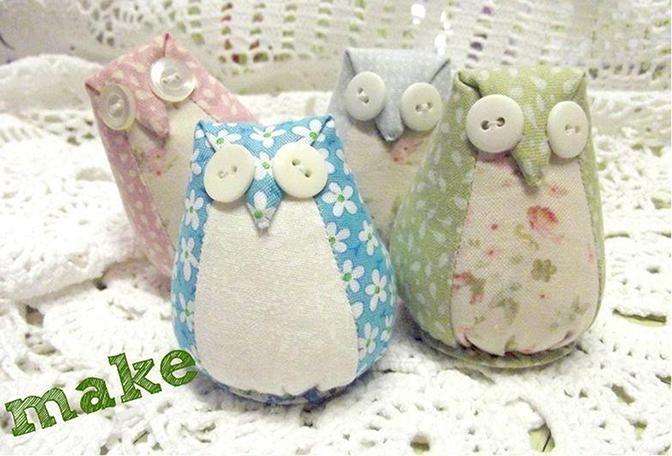 little owl pin cushion