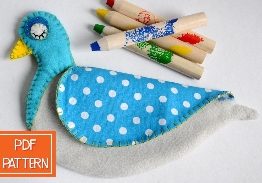 Pigeon-Shaped Pencil Case