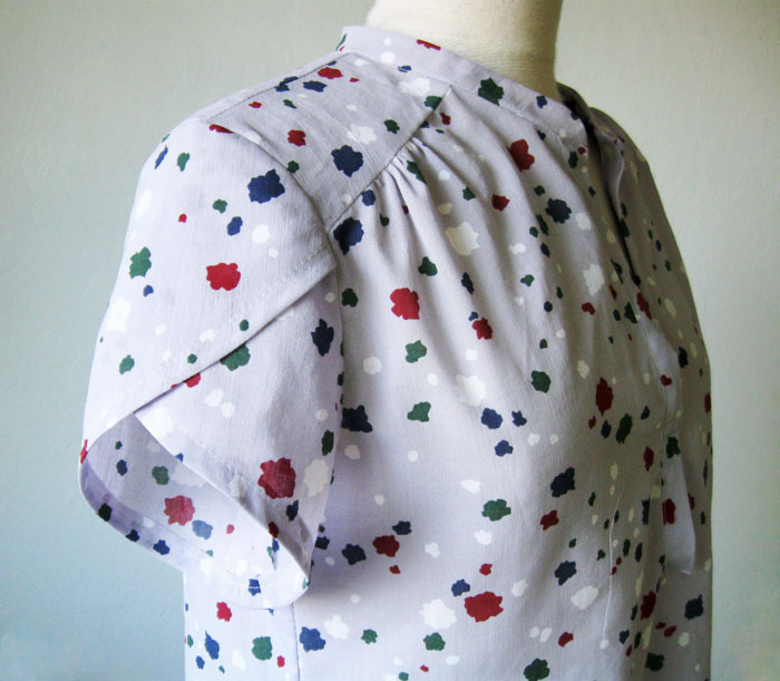 tulip sleeve example on blouse