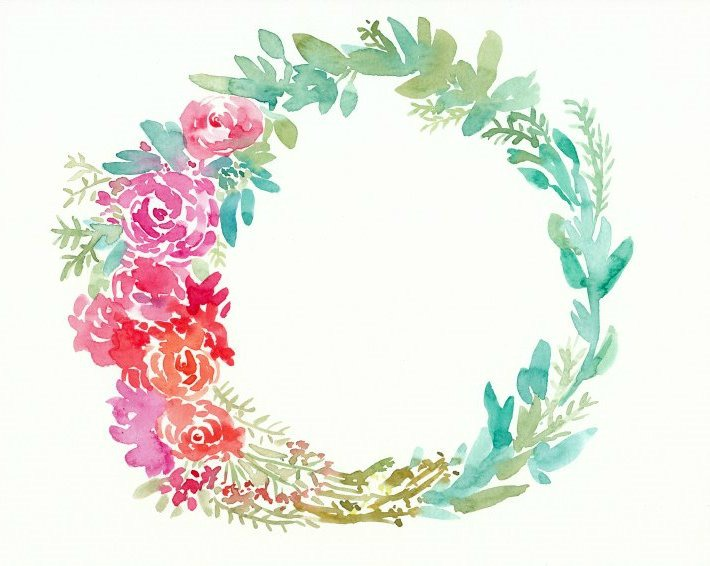 Learn to paint a lush floral watercolor wreath with this quick tutorial.